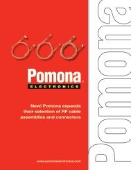 New! Pomona expands their selection of RF cable assemblies and ...