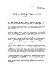 RELM's New APCO Project 25 Digital Mobile ... - RELM Wireless