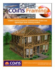 COINS Framing produces sophisticated timber and lightweight steel ...