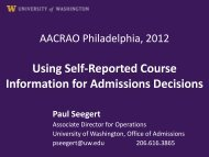 Using Self-Reported Course Information for Admissions ... - AACRAO