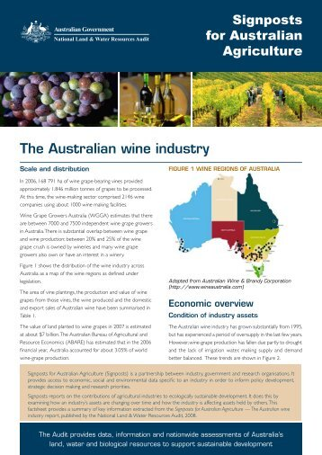 the Australian wine industry - Land and Water Australia