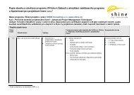 Popis obsahu a struktury programu (Příloha k Žádosti o ... - IPMA