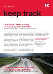 New Contract for ARGE Alptransit Brenner - Rhomberg Bau Gmbh