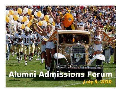 Alumni Admissions Forum Alumni Admissions Forum - Georgia