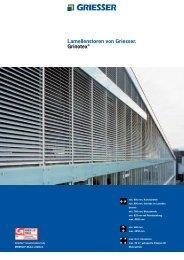 Lamellenstoren von Griesser. Grinotex®