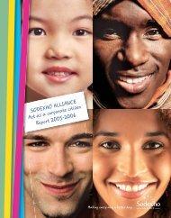 SODEXHO ALLIANCE Act as a corporate citizen Report 2005-2006