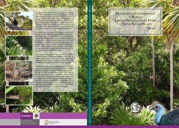 Programa de ConservaCión y manejo Área de ... - Conanp