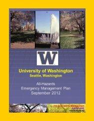 UW All-Hazards Emergency Management Plan September 2012