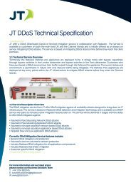JT DDoS Technical Specification