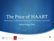 The Price of HAART - Canadian Lung Association