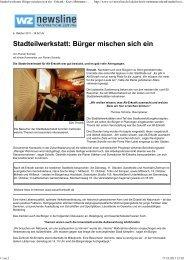 Artikel WZ vom 06.10.2011 - Zukunft Erkrath