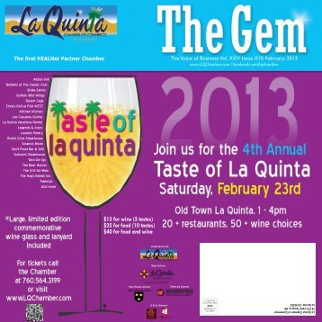 February 2013 - La Quinta Chamber of Commerce