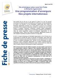 Une programmation d'envergure, des projets internationaux