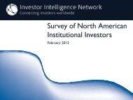 Survey of North American Institutional Investors - iiforums.com