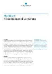 Merkblatt Kohlenmonoxid-Vergiftung - Lunge Zürich