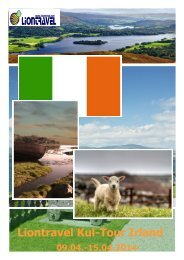 Liontravel Kul-Tour Irland 2014 - Informationsflyer