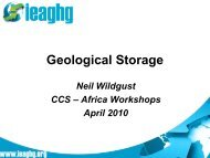 Geological Storage of CO 2 - ccs-africa