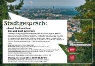 Details zum Stadtgespräch - Vereinigung für eine Starke Region ...