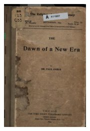 The Dawn of a New Religious Era - Swami Vivekananda