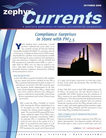 "October 2008: ""Compliance Surprises in Store with PM2.5"" - Zephyr ..."