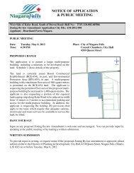 notice of application & public meeting - Niagara Falls, Ontario, Canada