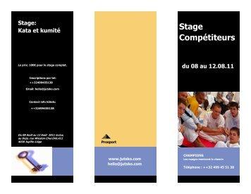 Folder PDF du stage