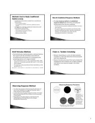 The new response method and established response method both ...