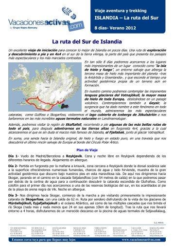 ISLANDIA La ruta del Sur de Islandia 8 dias - Vacances Actives