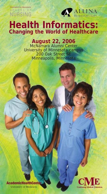 health informatics flyer - University of Minnesota Continuing Medical ...