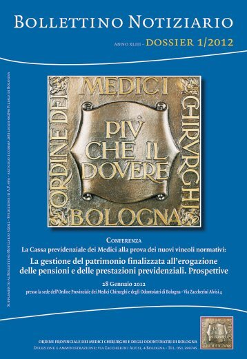 28 Gennaio 2012 - Ordine dei Medici di Bologna