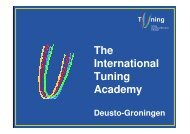 The International Tuning Academy - tuning project