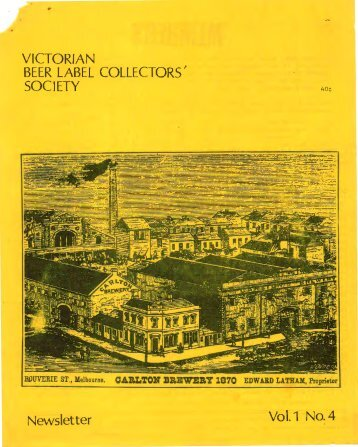 View Newsletter Online - The Victorian Beer label Collectors Society