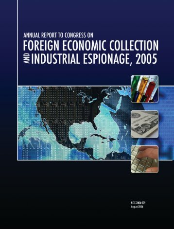Foreign Economic Collection and Industrial Espionage, 2005
