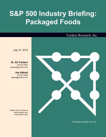 S&P 500 Industry Briefing: Packaged Foods - Dr. Ed Yardeni's ...