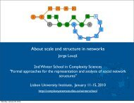 About scale and structure in networks - iscte-iul