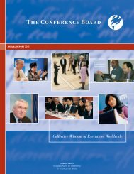 Collective Wisdom of Executives Worldwide - The Conference Board