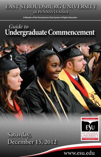Commencement Information - East Stroudsburg University