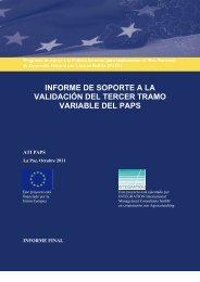 Informe 3er TV AT PAPS - Viceministerio de Coca y Desarrollo Integral