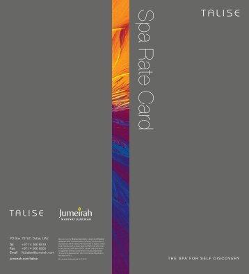 Download Talise Spa Services Brochure (PDF) - Lorrin Golf