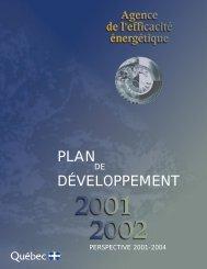 2001-2002 - Efficacité énergétique - Gouvernement du Québec