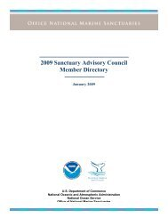 2009 Council Directory - National Marine Sanctuaries - NOAA
