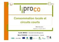 2. Consommation alimentaire locale
