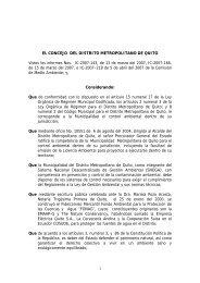 el concejo del distrito metropolitano de quito - Página en ...