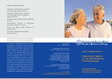 Prevenzione, Diagnosi e Cura dell'Osteoporosi Postmenopausale