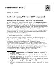 """Zwei Vorarlberger als """"WIFI Trainer 2009"""" ausgezeichnet"""