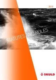 Statutes & Rules 2013 - Skuld