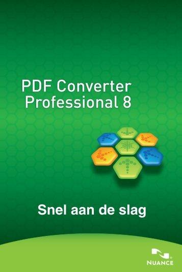 Snel aan de slag - PDF converter Professional 8 - Nuance