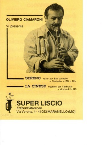O.CIAMARONI - FASCICOLO (SERENO).pdf - edizioni musicali ...