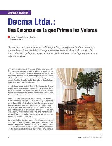 Empresa Invitada Decma Ltda. - Revista El Mueble y La Madera