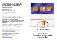 Ton - Wort - Farbe Evangelische Spiritualität in ... - Uwe Appold